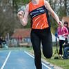 Delphine Callens (AV Molenland) won het zilver bij de dames seniores met een sprong van 4,23 M @ Provinciaal Kampioenschap Atletiek - SC De Lenspolder - Nieuwpoort