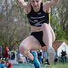 Maité Beernaert, goud op het verspringen cadetten meisjes met een sprong van 5,16 M @ Provinciaal Kampioenschap Atletiek - De Lenspolder - Nieuwpoort