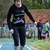 Sarah Dekeyser (Houtland AC) met een sprong van 1,87 M @ Provinciaal Kampioenschap Atletiek - SC De Lenspolder - Nieuwpoort