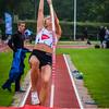 Jana Jansen van VABCO Mol met een sprong van 2,97 M