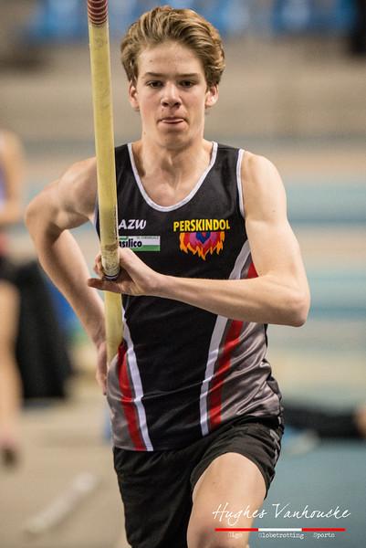 Timo Nuyttens (AZW) pakt het goud bij de cadetten - Provinciaal Kampioenschap Indoor Atletiek - BLOSO Topsporthal - Gent