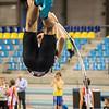 Gilles Dieryck uit Zonnebeke (FLAC Ieper) goed voor brons bij de scholieren met 2,90 M - Provinciaal Kampioenschap Indoor Atletiek - BLOSO Topsporthal - Gent
