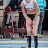 Manon Demey van FLAC op de 400 M Horden voor meisjes scholieren - Provinciaal Kampioenschap - Sportpark De Lenspolder - Nieuwpoort