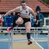 Céline Delheye van FLAC Izegem op de 400 M Horden voor meisjes scholieren op naar winst in haar categorie - Provinciaal Kampioenschap - Sportpark De Lenspolder - Nieuwpoort