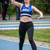 Siska Lescrauwaet in het speerwerpen bij de Scholieren - Provinciaal Kampioenschap 2015 - Sportpark De Lenspolder - Nieuwpoort