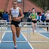 Flavie Vanbesien van FLAC Hoppeland haalt de provinciale titel binnen - 400 M Horden JSM Dames - Provinciaal Kampioenschap 2015 - Sportpark De Lenspoder - Nieuwpoort