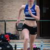 Jolien Musseeuw van AVR - 400 M Horden JSM Dames - Provinciaal Kampioenschap 2015 - Sportpark De Lenspoder - Nieuwpoort
