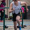 Jolien Steenhuyse van FLAC Ieper - 400 M Horden JSM Dames - Provinciaal Kampioenschap 2015 - Sportpark De Lenspoder - Nieuwpoort