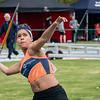 Danilsa Minier Capellan van Molenland in het speerwerpen bij de Scholieren - Provinciaal Kampioenschap 2015 - Sportpark De Lenspolder - Nieuwpoort
