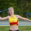 KKS atlete Line De Waegenaere viel net naast het podium in het speerwerpen bij de Cadetten - Provinciaal Kampioenschap 2015 - Sportpark De Lenspolder - Nieuwpoort