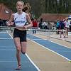 Hannah Mahieu van FLAC op de  op de 300 M Horden voor meisjes cadetten - Provinciaal Kampioenschap - Sportpark De Lenspolder - Nieuwpoort
