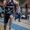Provinciaal kampioen Domien Decloedt van Houtland - Reeks I 100 M - Sportpark De Lenspolder - Nieuwpoort  Zaterdag 25 april '15