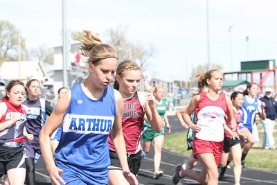 Arthur County's Taylor Vasa in the girls 800 meter run