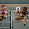 Chloë Beaucarne & Dorien Van Diest op de 60 M Horden - Kampioenschap van Vlaanderen  - Topsporthal Vlaanderen - Gent