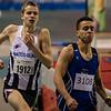 Lars Oosterlinck op de 800 M - Kampioenschap van Vlaanderen - BLOSO Topsporthal - Blaarmeersen - Gent
