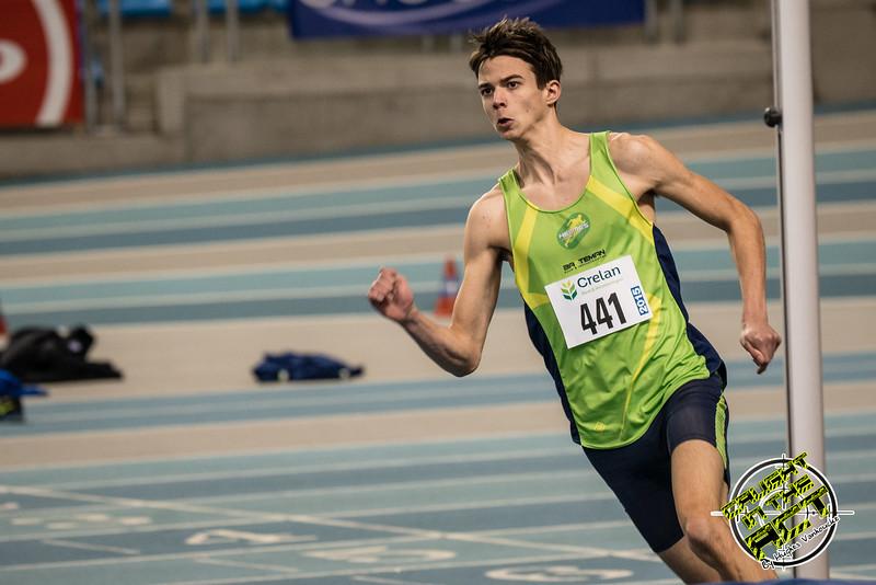 Junior Tom Opsomer van Hermes Oostende - Kampioenschap van Vlaanderen - BLOSO Topsporthal - Blaarmeersen - Gent