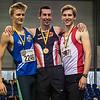 Vlnr: Viktor Benschop, Hans Omey & Nolan Van Den Oord - Kampioenschap van Vlaanderen - BLOSO Topsporthal - Blaarmeersen - Gent