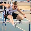 Mathias Desmet van FLAC - Reeksen 60 M Horden - Kampioenschap van Vlaanderen - BLOSO Topsporthal  - De Blaarmeersen - Gent