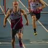 Winst voor Dario De Borger van ROBA - Finale 60 M Horden - Kampioenschap van Vlaanderen - BLOSO Topsporthal  - De Blaarmeersen - Gent