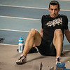 Hans Omey net voor de 800 M - Kampioenschap van Vlaanderen - BLOSO Topsporthal - Blaarmeersen - Gent