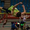 Junior Tom Opsomer van Hermes Oostende gaat over 1,90 M - Kampioenschap van Vlaanderen - BLOSO Topsporthal - Blaarmeersen - Gent
