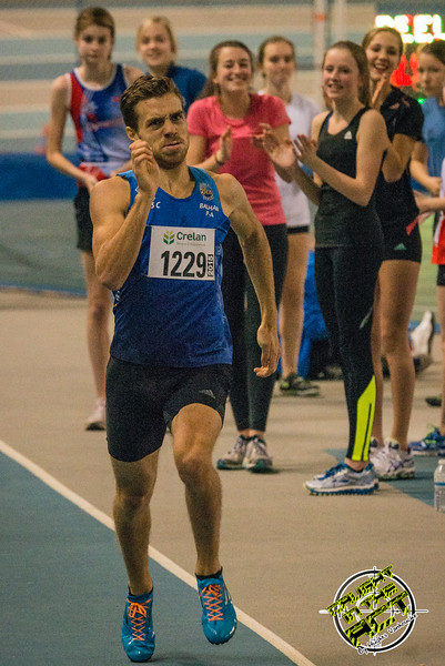 Pierre-Antoine Balhan op de 800 M - Vlierzele Sportief Indoor Meeting - BLOSO Topsporthal - Gent