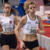 Sien Demasure (FLAC Ieper) & Vita Van Belleghem op de 800 M - Vlierzele Sportief Indoor Meeting - BLOSO Topsporthal - Gent