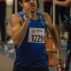 Pierre-Antoine Balhan tijdens de poging om de limiet te lopen voor het EK Indoor - Vlierzele Sportief Indoor Meeting - BLOSO Topsporthal - Gent