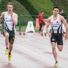 Finale 100 M met Ken Neyt & Mathias Sanctorum