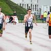 Finale 100 M met Ken Neyt, Mathias Sanctorum & Jon Huyghe (KKS)