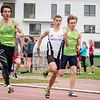 100 M juniores met David Dries, Massimo Renson & Arne Verbanck