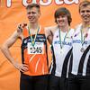Podium/Podio 800 M: Niels Deboodt, Yngwie Vanhoucke & Lars Oosterlinck