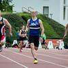 100 M met Niko Gevaert (AZW), Jeroen Vandewalle (AVR) & Frank Dawyndt (MACW)