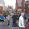 At Camden Yards getting ready for the Baltimore Half Marathon 2010