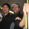 Jon and David on the light rail heading to the Baltimore Half Marathon 2010