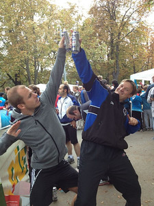 Marco and Sven are celebrating....Vienna, September 22nd, 2012.