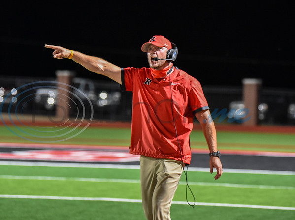 New Rusk Eagles head coach and athletic director Thomas Sitton gets passionate during a game against the Crockett Bulldogs hosted by Rusk on Friday.
