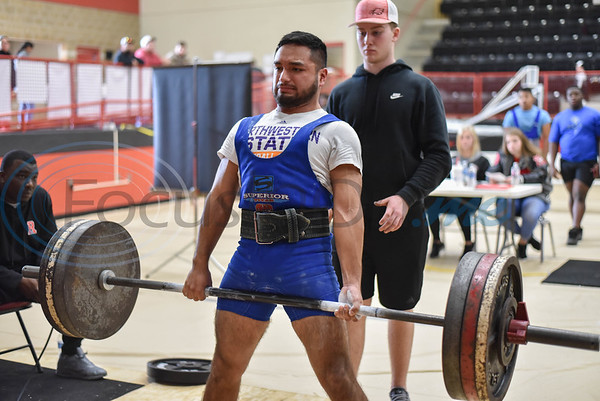 Jesus Bravo of Joaquin pulls his last deadlift attempt at the annual Rusk Invitational powerlifting meet. The event took place at the Rusk Coliseum on Saturday, January 25. (Jessica T. Payne/Tyler Morning Telegraph)