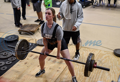 Mason Blalock of Rusk competes in the deadlifting event at the annual Rusk Invitational on Saturday, January 25. The Rusk girls team took third place at the meet with Elkhart taking home first and Tatum coming in second. (Jessica T. Payne/Tyler Morning Telegraph)