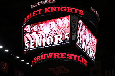 Feb. 12, 2017 Knights defeated the Wildcats of Northwestern U, 28-6 at the RAC of Senior Day
