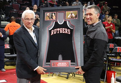 Jan. 12, 2018 Knights defeated NC Tar Heels on criteria 18-17 at the RAC. Coach Sacchi Honored for his contributions to RU Wrestling.