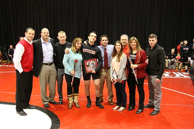 Scarlet Knights host Princeton Tigers at the Barn for Sr Day , Feb 14, 2015, 24-11 Win . Sr. Nick Visicaro 165 lbs honored.