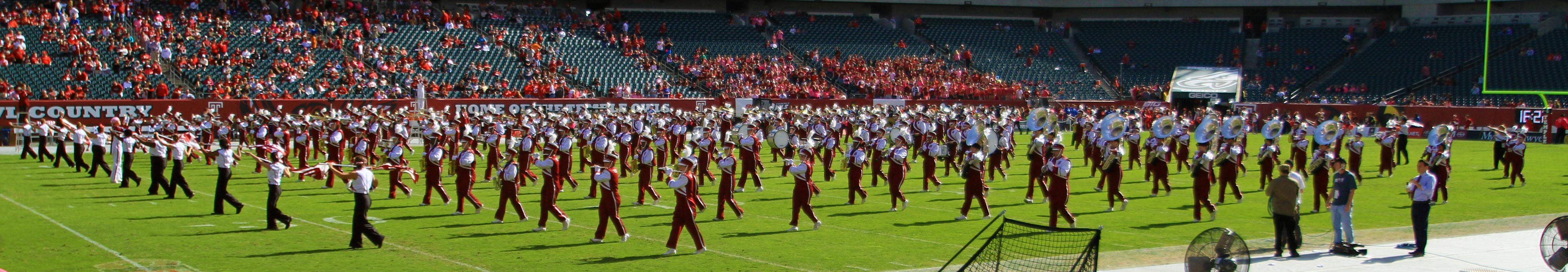 More of the Temple marching band