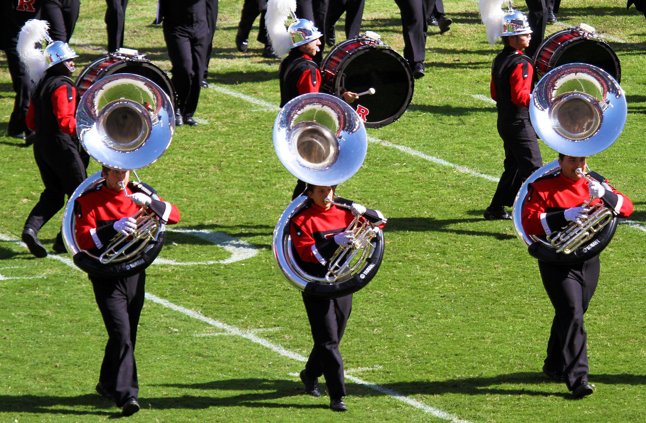 Three Rutgers tubas