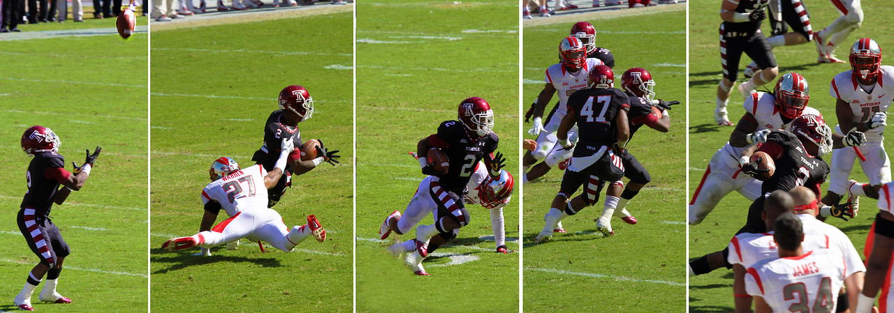 Sequence of a run by Temple's Brown