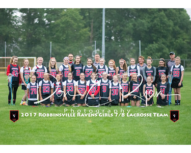2017 Girls 7-8 Lacrosse Team 8x10 with border