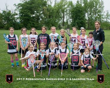 2017 Girls 3-4 Lacrosse Team 8x10