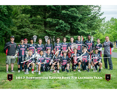 2017 Boys 7-8 Lacrosse Team 8x10 with border