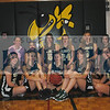 Members of the 2012-2013 Eldred girls' basketball team are: (back row, from left), coach Teresa Colvin, Abigail Ellert, Nicole Elvin, Rebecca Morgan, Samantha Banghart, Hannah Bisland. (front row): Stephanie Lee, Julia Wilk, Erin Angus, Kayla Kelly, Jessica Schips.