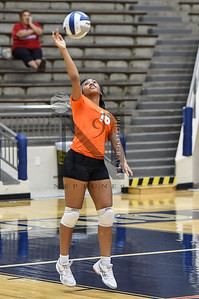 Sam Houston def. Jefferson 3-2 VB action at Alamo Convocation Center in SATX 20Sep16. Gallery: http://smu.gs/2cSbS3G
